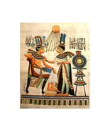 PHARAOH QUEEN SUN GOD Fine Art Egyptian Papyrus - $29.99