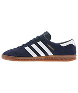 New adidas Originals Hamburg Shoes New Navy White D65192 stan smith rod laver - $94.99