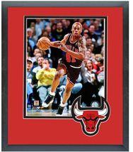Dennis Rodman 1996-97 Chicago Bulls - 11 x 14 Team Logo Matted/Framed Photo - $43.55