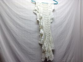 Vintage Hand Crocheted Table Pieces and White/Off white Table Cloth image 8