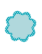 Blue Dots Flower Tag Sheet-Digital Download-ClipArt-Art Clip  - $4.00
