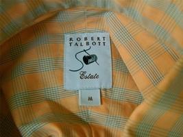 ROBERT TALBOTT Estate Limited Edition Shirt Button Down Peach Light Blue M - €57,14 EUR