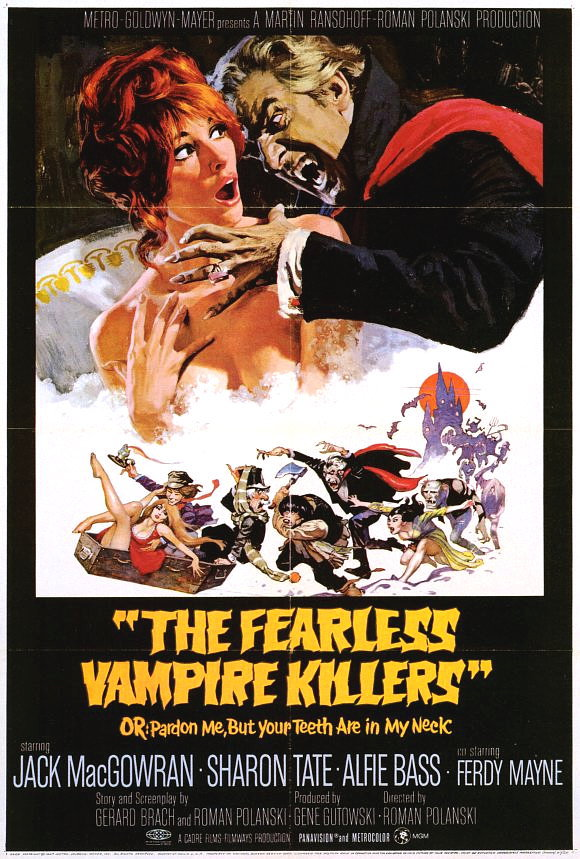 THE FEARLESS VAMPIRE KILLERS POSTER 27x40 IN SHARON TATE IN TUB 69x101 CM