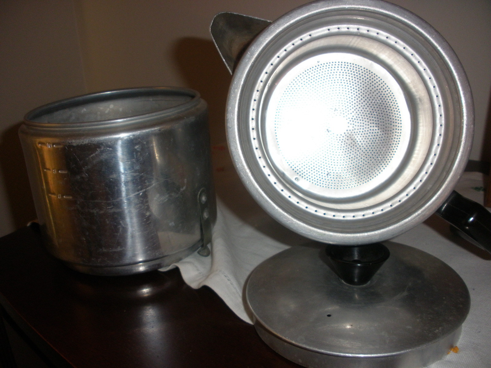 Aluminum vintage coffee pot
