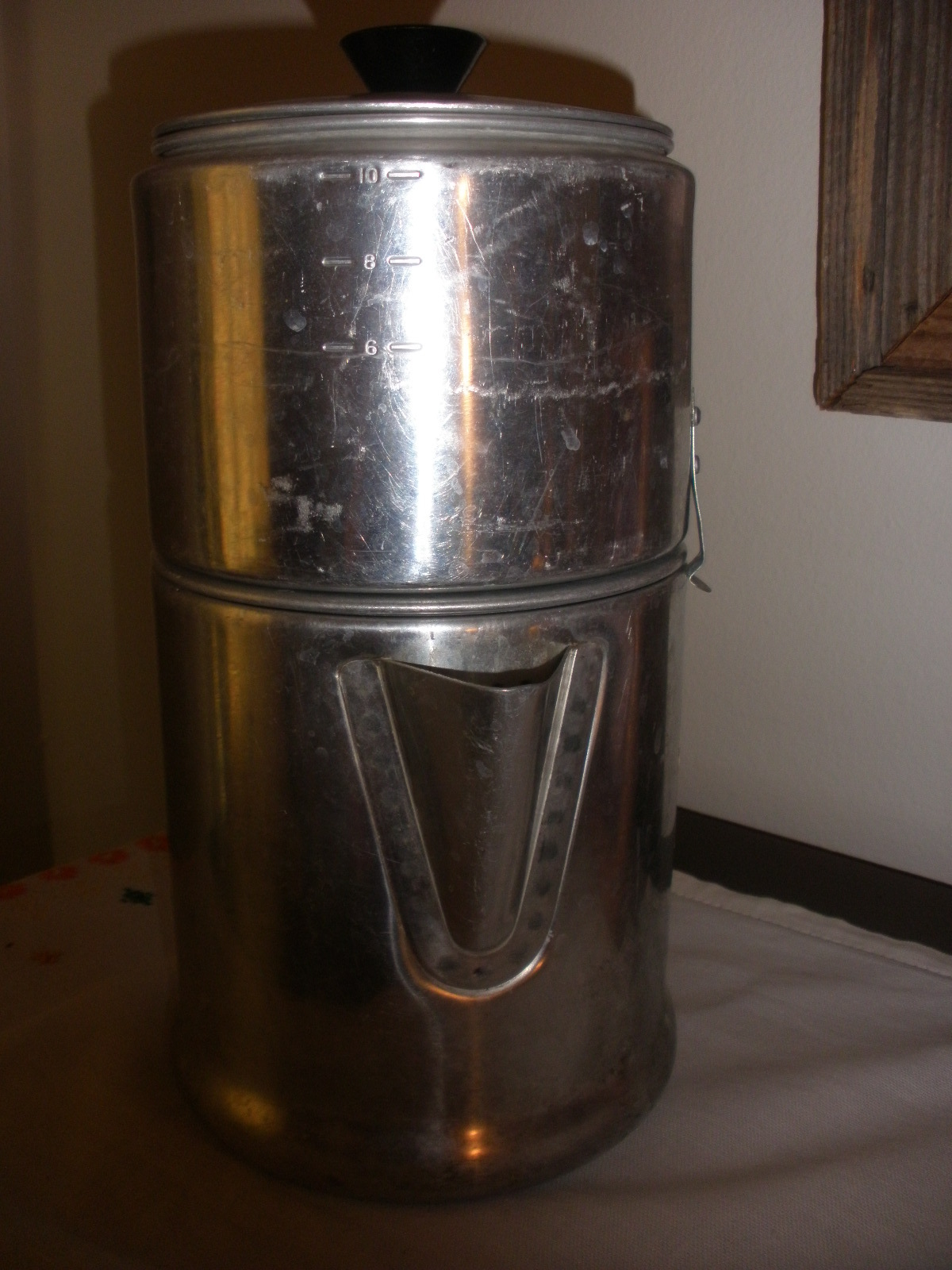 Aluminum vintage coffee pot