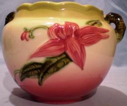 "Hull Pottery Hi-Gloss Woodland Jardiniere W7 5 1/2"" image 1"