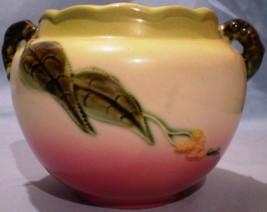 "Hull Pottery Hi-Gloss Woodland Jardiniere W7 5 1/2"" image 3"