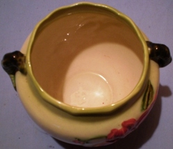 "Hull Pottery Hi-Gloss Woodland Jardiniere W7 5 1/2"" image 6"
