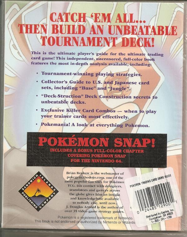 Pokemon Trading Card Game Player's Guide * and 31 similar items