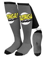Big Bang Theory Bazinga Pattern Gray Knee High Derby Socks With Cape, NE... - $9.61