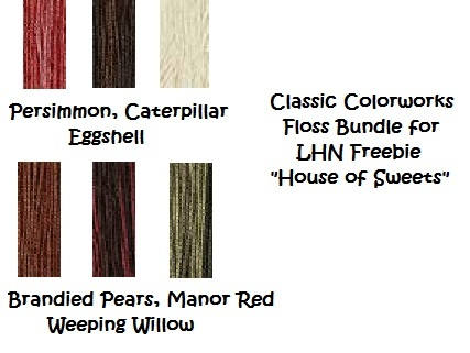House of Sweets FLOSS BUNDLE for LHN Freebie (6 skeins) Classic Colorworks