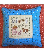 Woof Spoken Here Freebie with fabric + floss bundle (10 skeins) Stitchy ... - $27.00