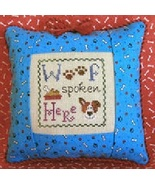 Woof Spoken Here Freebie with floss bundle (10 skeins) Stitchy Kitty   - $21.60