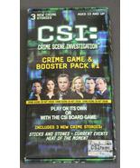 CSI: Crime Scene Investigation, Crime Game and Booster Pack #1 - $9.99