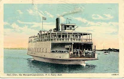 The Govenor Carr Newport Jamestown Ferry Boat 1949 Post Card