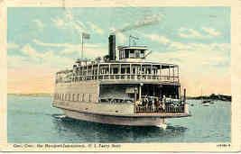 The Govenor Carr Newport Jamestown Ferry Boat 1949 Post Card - $6.00