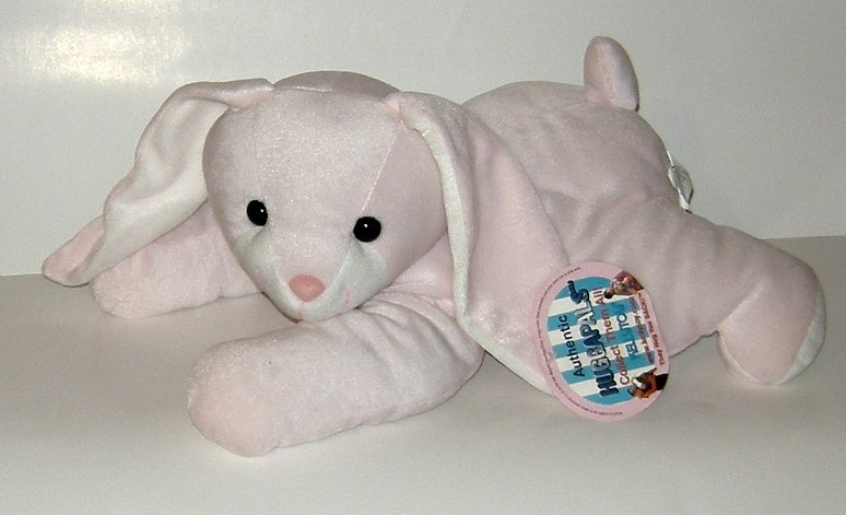 50% off! Huggapals Flopsy Pink Velour Bunny Rabbit Plush NWT