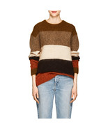 Women Oversized Albah Multicolor Striped Wool Mohair-Blend Sweater - $218.00