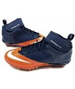 Nike Lunar Superbad Pro TD Mid Men's Football Cleats 534994, Orange/Blue... - $28.22