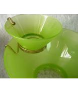 Vintage Chip and Dip Salsa Bowl Frosted Green - Dip Bowl w/ Metal Hanger... - $20.00