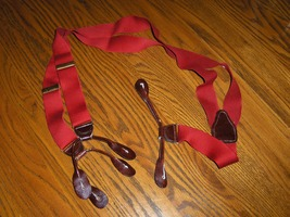 Suspenders Braces Mens Red C A S Made in W. Germany - $10.00