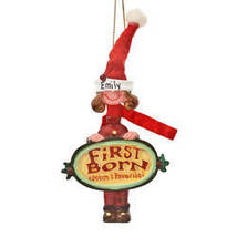 Mom's Favorite Youngest Child Ornament-plainBoy - $32.48