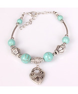 NEW  Quality Tibetan Silver & Turquoise Key Lock Bangle Bracelet - $5.00
