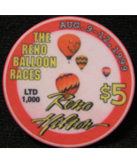 "1999 - $5.00 Casino Chip From: ""Reno Hilton Resort""- (sku#2389) - $3.75"