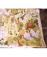 """18"""" Wide x 74"""" Long Lovely Floral Screen Printed Fabric Remnant #33307 - $12.49"""