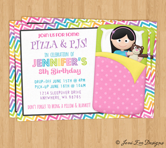 Girls Sleepover Invitation Slumber Party and 23 similar items