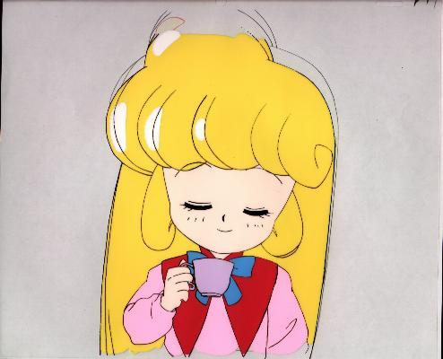 "Floral Elf Mary Bell ""Mary Bell w/Tea Cup"" Anime Cel (0116)"