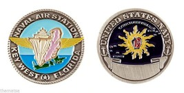 "NAS NAVY NAVAL AIR STATION KEY WEST FLORIDA 1.75"" CHALLENGE COIN - $16.24"
