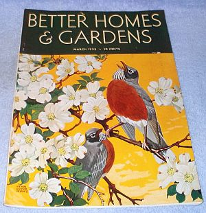 Women 39 s better homes and gardens magazine march 1935 magazine back issues Better homes and gardens march