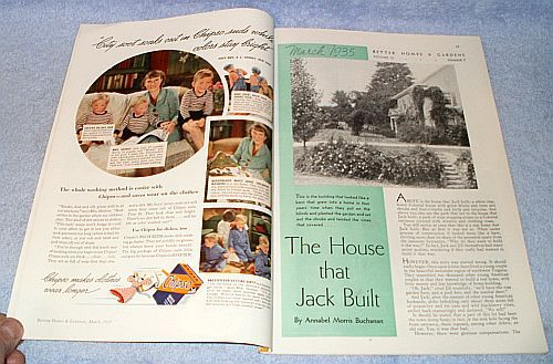 Women 39 S Better Homes And Gardens Magazine March 1935