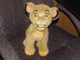 "14"" Disney Simba Plush Toy With Rubber Face From The Lion King Rare - $139.89"