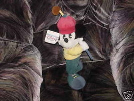 """15"""" Disney Golfer Mickey W/Golf Club Plush Toy W/Tags - $23.01"""