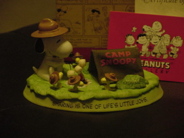 Hallmark Peanuts Gallery CAMPFIRE FRIENDS Fig. M/W/Box