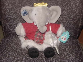 """15"""" Ice Skating Winter Holiday Babar Celeste Plush Toy Tags Applause 439... - $55.74"""