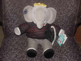 """15"""" Ice Skating Winter Holiday Babar Plush Toy With Tags Applause 4776/5000 - $55.74"""