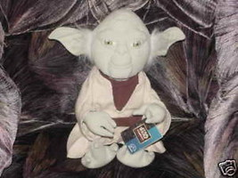 Star Wars YODA Plush Doll With Tags From Applause 1998 - $55.74