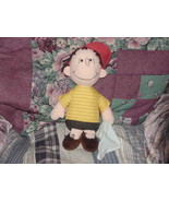 """12"""" Snoopy LINUS Plush Doll With Baby Blue Blanket - $55.74"""