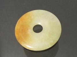 Antique Chinese Export Genuine Jade Circle Charm Pendant  - $315.00