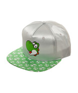 Super Mario Bros. 'Yoshi Face' Grey & Green Satin New Cap / Hat * Nintendo - $11.88