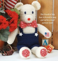 W314 Crochet PATTERN ONLY Yankee Doodle Patriotic Bear Toy Pattern - $7.50