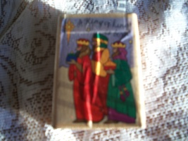 Three Wise Men Christmas Rubber Stamp - $5.00