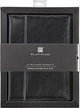 Platinum Leather Folio Case for Microsoft Surface 3 - $12.99