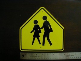 Metal   Mini  School  Xing Traffic  Signs Miniature - $4.95