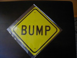 Metal Mini  Bump  Traffic     Signs   Miniature Aluminum  Sign - $4.95