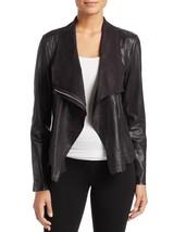 Trendy Open Front Draped Hot Women's Genuine Soft Lamb Skin Leather bike... - $145.00