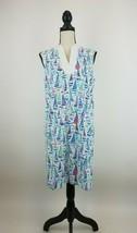 Talbots MP Sailboat Shift Dress Womens A-Line Nautical V-Neck Sleeveless... - $14.48